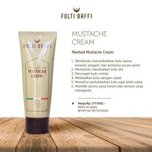 folti baffi mustache cream jenggot jambang brewok kumis